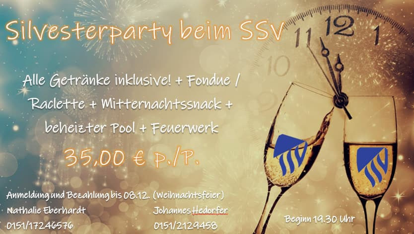 Silvesterparty beim SSV Alsmoos Petersdorf