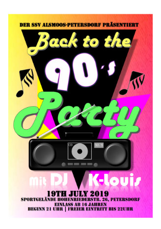 Back to the 90s Party Alsmoos Petersdorf 19.07.2019